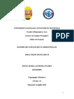 Dossier stratégies d'apprentissages D2_ Elena