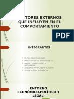 FACTORES EXTERNOS QUE INFLUYEN EN EL COMPORTAMIENTO