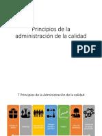 Principios de la administración de la calidad