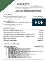 jessica irwin resume 2020 rn