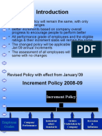 Increment Policy 2008-09 PPT