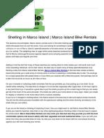 Marco Island Bicycle Rentals