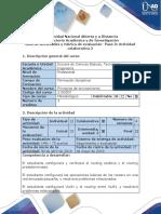 Guía de actividades y rúbrica de evaluación - Paso 3 Actividad colaborativa 2