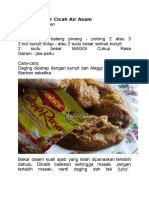 Daging Bakar Cicah Air Asam