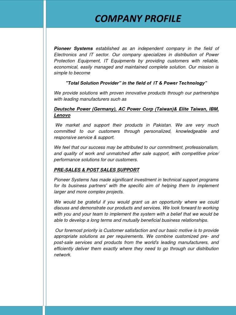 Company Profile   Innovation   Technology