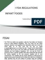 FSSAI AND FDA REGULATIONSS