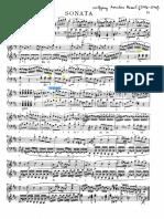 Análisis sonata Mozart