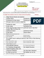 FM Model Question Paper