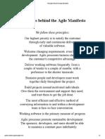 Core Principles behind the Agile Manifesto