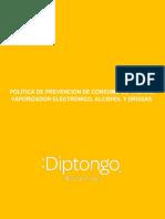 POLÍTICA DE PREVENCIÓN DE CONSUMO DE TABACO, VAPORIZADOR ELECTRÓNICO, ALCOHOL Y DROGAS.