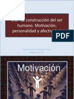 5.1.- La construcción del ser humano. Motivación, personalidad y afectividad.