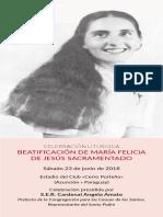 folleto beatificación chiquitunga
