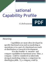 Organisational Capability Profile