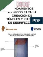 RECUBRIMIENTOS PARA CABINAS O TÚNELES DE DESINFECCION