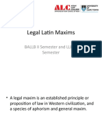 Legal Latin Maxims