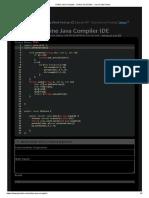 Online Java Compiler - Online Java Editor - Java Code Online