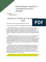 Decreto 23030 de 1933