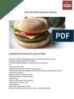 Taller Online de Hamburguesas Veganas