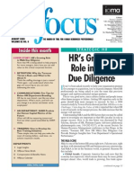 HR Due Diligence. Best Practices