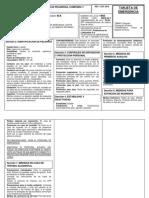 Tarjeta de emergencia ACEITE 15 W 40 PRUEBA