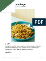 Thai Curry Cabbage - Diet Doctor