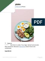 Keto Tuna Plate - Diet Doctor