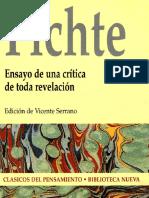 Fichte, J.G. Ensayo de Una Crítica de Toda Revelación. 2002
