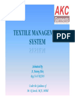 Textile Management System - Review II