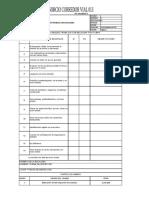 formato de trabajo en altura y listas de verificacion