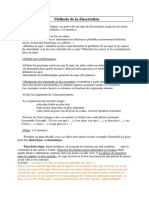 Methode de La Dissertation