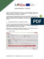 Pedido Reembolso - contratos - instruções preenchimento