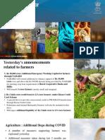 Aatma Nirbhar Bharat Presentation Part-3 Agriculture 15-5-2020 Revised