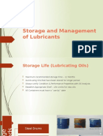 PPT for Storage & Management of Lubricants