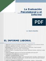 Evaluación Psicológica e Informe Laboral