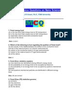 MCQ Nano Science and FE