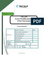 INFORME ELECTROMECANICO ELECTRICIDAD conmutacion