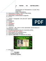 EXERCÍCIOS E TESTES DE VESTIBULARES