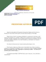 Prezentare Autor Blog Alchimie Spirituala