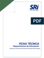 Ficha Tecnica para la elaboración de los catastros municipales
