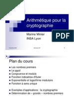 Arithmetique Pour Cryptographie