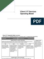 IT Operating Model - workshop