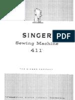 SINGER 411G Sewing Machine User Manual