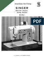 SINGER 610U Sewing Machine User Manual