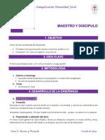 Tema 2. MAESTRO Y DISCIPULO