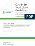 MIOSHA guidelines for employers as people return to work