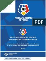 Protocol Medical Pentru Reluarea Antrenamentelor