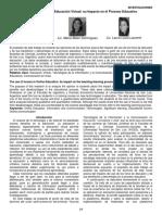 Foro en la Eduacion Virtual Su impacto en el proceso educativo.pdf