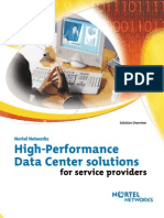High-Performance Data Center for Service Providers Solution Brief