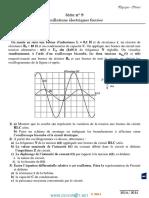 Série d'exercices N° 9 - Sciences physiques Oscillations électriques forcées - Bac Sciences exp (2014-2015) Mr Adam Bouali