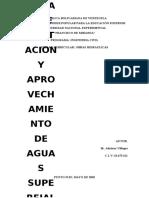 ACTIVIDAD Nº3 - OBRAS DE CAPTACION Y APROVECHAMIENTO DE AGUAS SUPERFICIALES CON REGULACION